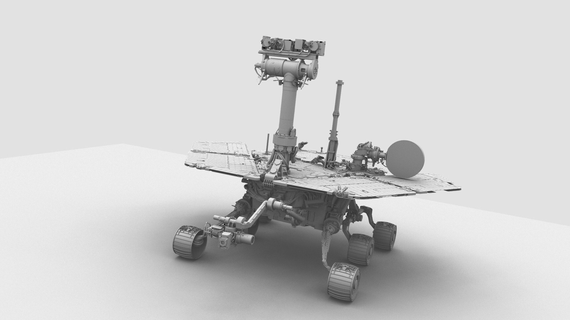 Mars Rover 3D Rendered front view