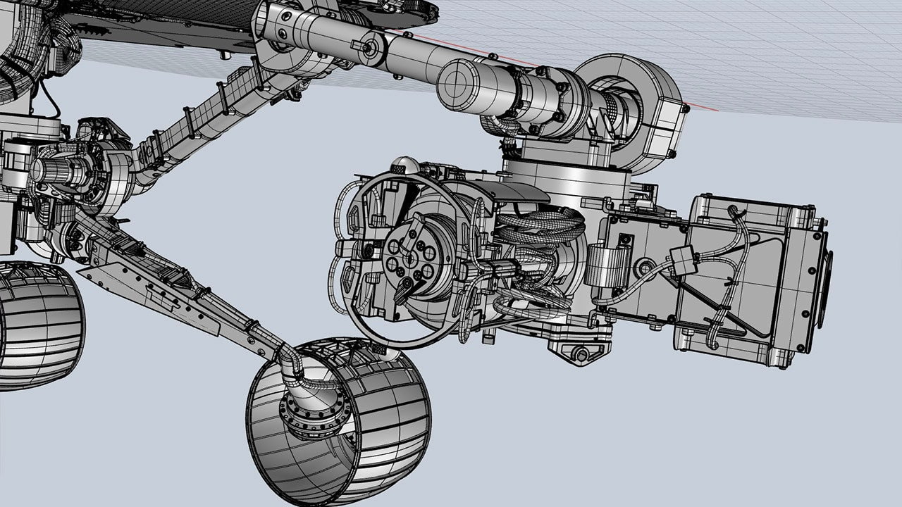Mars Rover 3D robotic arm