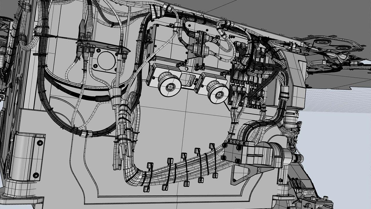 Mars Rover 3D rear body