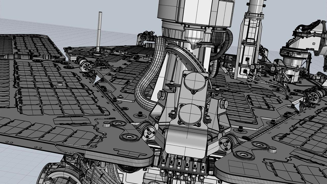 Mars Rover 3D magnet array