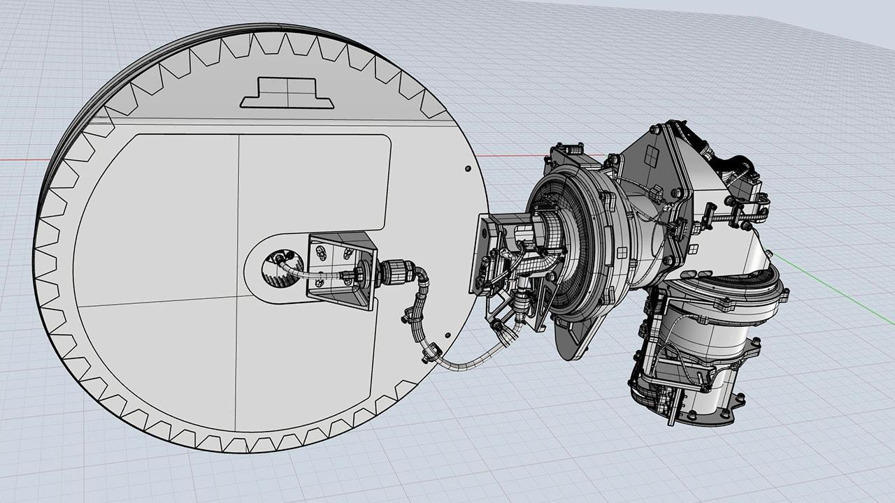 Mars Rover 3D High Gain Antenna (HGA)