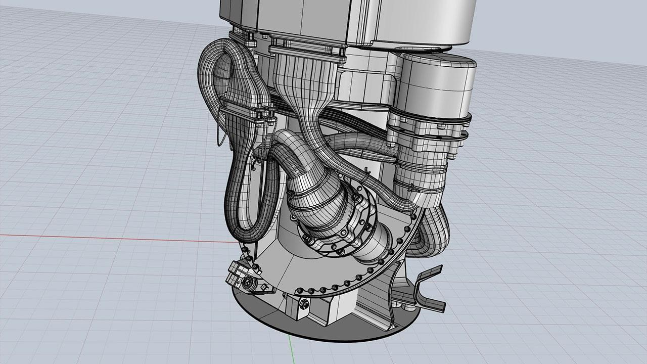 Mars Rover 3D mast base